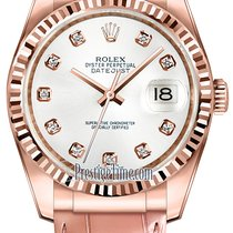 Rolex Datejust 36mm Everose Gold 116135 White Diamond