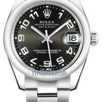 Rolex Datejust 31mm Stainless Steel 178240 Black Concentric...