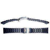 Genuine Deep Blue Pu Bracelet Individual Links With Screws...