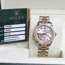 Rolex 178383 Midsize Diamond Bezel 18K & Stainless  Box...