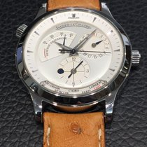 """Jaeger-LeCoultre Master Géographic stainless steel """"full..."""