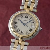 Cartier Lady Panthere Ronde Gold / Stahl Damenuhr Design...