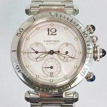 Cartier Pasha Chronograph (bracciale in acciaio)