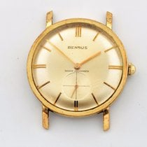 Benrus Shock-absorber Gold Plated Silver Dial 33mm Manual Wind...