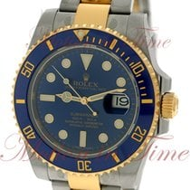 Rolex Submariner, Royal Blue Dial, Blue Ceramic Bezel - Yellow...