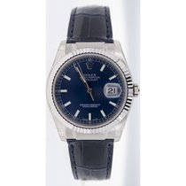 Rolex Datejust 116139 White Gold Case & Clasp, Blue...