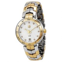 TAG Heuer LINK LADIES 18K GOLD & STEEL DIAMOND DIAL Quartz...