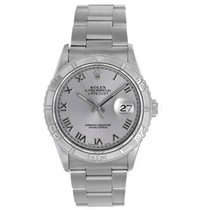 Rolex Turnograph Men's Steel Watch with Thunderbird Bezel...