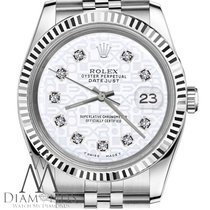 Rolex 31mm M Size Datejust White Diamond Stainless Steel Ss...