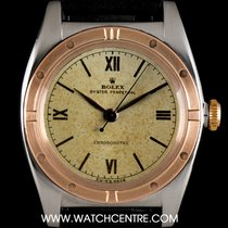 Rolex Steel & Rose Gold Bubble Back Oyster Perpetual...