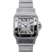 Cartier Santos Galbée Small Quartz Silver