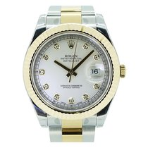 Rolex Datejust II 116333 Men's 41mm Diamond Ivory 18k...