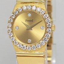 Piaget Polo 18k Yellow Gold Diamond 21mm Ladies Quartz Watch...
