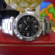 Cartier Pasha Ref. 2324 Stainless Steel 35mm Black Dial Watch