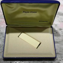 Philip Watch vintage watch box plastic blu automatic