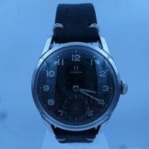 Omega vintage 1952 calatrava BLACK gilt dial ref 2639-15 cal 266
