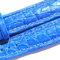 Breitling Band 20mm Croco Blue Blau Azul Strap Ib007