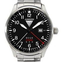 Junkers Hugo 6644M-2 GMT Herrenuhr m. 2. Zeitzone