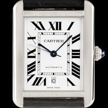 Cartier Stainless Steel Silver Roman Dial Tank Solo Gents...