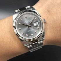 Rolex Datejust II Dark Rhodium Diamond Dial 41mm NEW