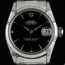 Rolex 18k W/G Rare Vintage Date Mid-Size Wristwatch 6627