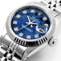 Rolex Ladies SS Datejust Factory Blue Sodalite Diamond Dial