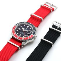 Rolex GMT Master ll Red NATO - unpolished w/ papers and extra...