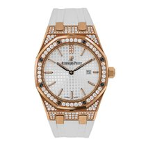 Audemars Piguet Ladies Royal Oak 33mm Rose Gold with Diamonds