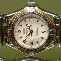 Breitling vintage CALLISTINO ref D52045 gold steel with box