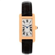 Cartier Tank Americaine 18k Rose Gold Ladies Watch W2607456