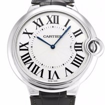 Cartier Ballon Bleu XL 18k Gold Men Leather Automatic Watch...