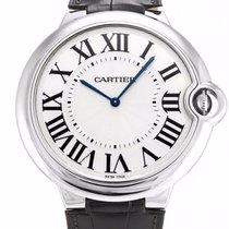 Cartier Ballon Bleu XL 18k Gold Men Leather Automatic Watch...