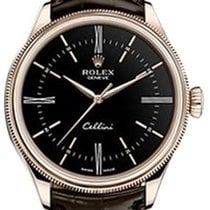 Rolex Cellini Time 50505-0008 Black Index / Roman Rose Gold...