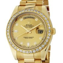 Rolex Day-Date II Yellow Gold Diamond Bezel Diamond Hour...