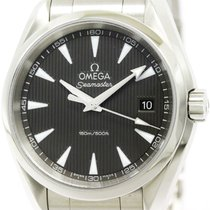 Omega Polished Omega Seamaster Aqua Terra Quartz Watch...