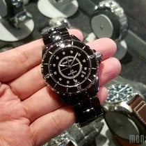 Chanel H1626 J12 Black with Diamonds 38mm