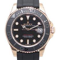 Rolex Yacht Master 18k Rose Gold Black Automatic 268655BK