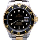 Rolex Oyster Submariner Gold Steel Black Dial 40mm (Full Set...