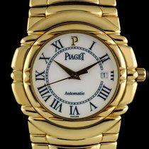 Piaget 18k Yellow Gold Cream Roman Dial Tanagra Gents 24041 M...