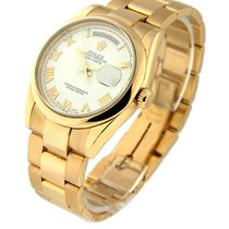 Rolex Used 118205_used_wht_roman Mens Rose Gold Day Date...