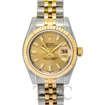 Rolex Lady Oyster Perpetual Champagne/18k gold Ø26 mm - 179173