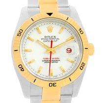 Rolex Datejust Turnograph Steel Yellow Gold Watch 116263 Box...