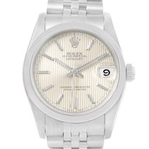 Rolex Midsize Datejust Steel Silver Tapestry Dial Ladies Watch...