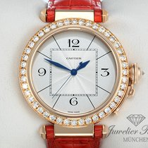 Cartier Pasha 42 mm Rosegold 750 Diamanten Brillanten Automatik