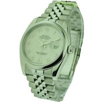Rolex Used 116200_white_jubilee_used Mens Steel Datejust with...