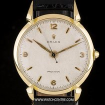 Rolex 18k Y/G Honeycomb Precision Tear Drop Lugs Wristwatch 4514