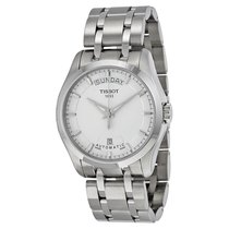Tissot Couturier Day-Date Silver Dial Men's Watch