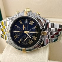 Breitling Crosswind Gold Steel Pilotband Black Roman Dial 43 mm
