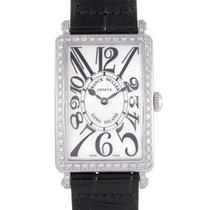 Franck Muller Long Island Womens Quartz Steel Diamond Watch...