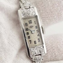 Private Label Ladies Platinum and Diamond Cocktail Watch